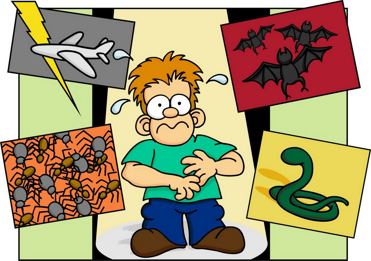 fears and phobias Please don't ask me about curing phobias because i know little about them my interest is in the names only phobophobia- fear of phobias.