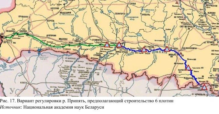Карта Глубин Реки Мухавец